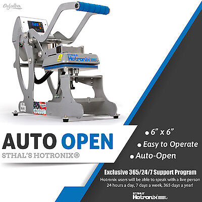 Stahls Hotronix 6 X 6 Auto Open Clam Heat Press Free Shipping