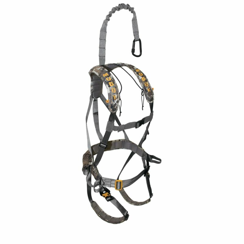 Muddy Ambush Hunting Quick Release Padded Deer Treestand Safety Harness, Camo