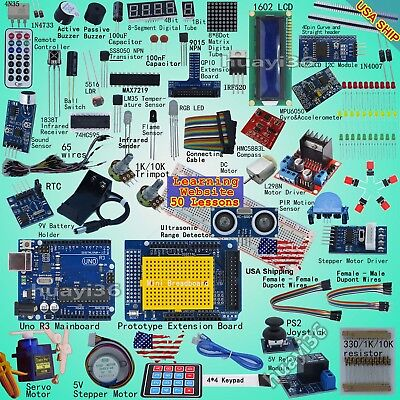 Professional UNO R3 Starter Kit for Arduino Servo LCD Compas