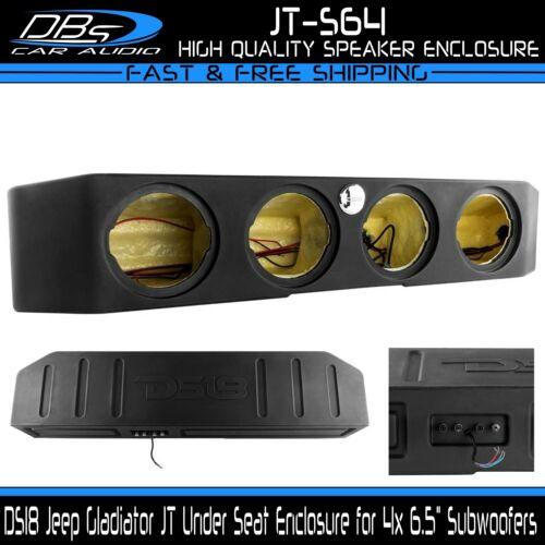 "DS18 JT-S64 Quad 6.5"" Subwoofer Enclosure Jeep Wrangler Gladiator JT Sub Box"