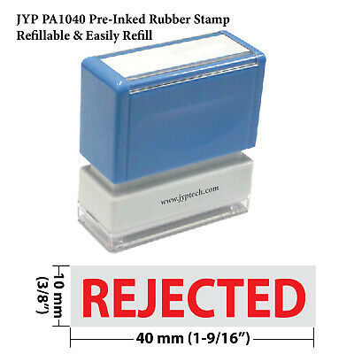 Rejected -jyp Pa1040 Pre-inked Rubber Stamp Red Ink