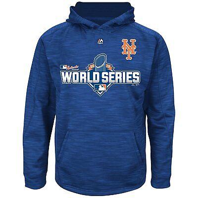 New York Mets Girls Youth 2015 World Series Pullover Hooded Fleece Sweatshirt