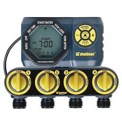 Melnor Digital 4 Zone Programmable Water Timer and Controller for Garden 33280