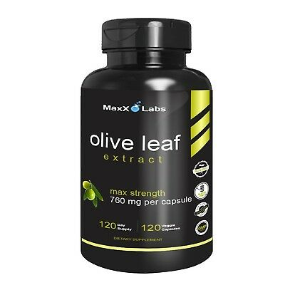 Best Olive Leaf Extract 750mg/120 Capsules - Super Strength Oleuropein