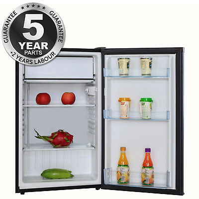 SIA LFSI01BL 49cm Free Standing Under Counter Fridge In Black With Ice Box