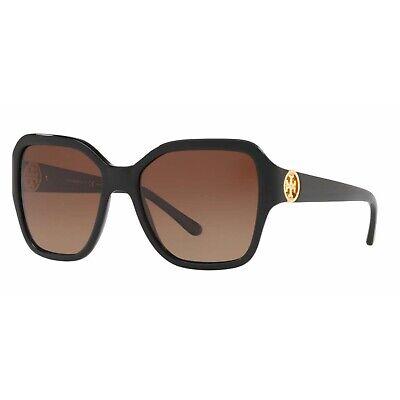 Tory Burch TY7125 -17091356 Plastic Sunglasses Black Frame Brown (Tory Burch Mens)
