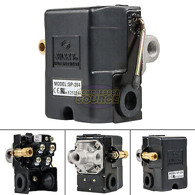 Heavy Duty 25 Amp Air Compressor Pressure Switch Control Valve 95-125 Psi 4 Port