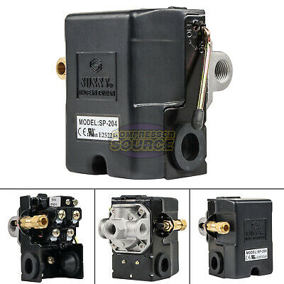 Heavy Duty 25 Amp Air Compressor Pressure Switch Control Valve 95-125 Psi 4 Port