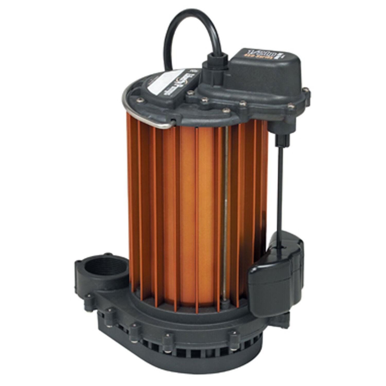 Auto Submersible Sump Pump 1/2HP 115V Liberty 457 Magnetic V