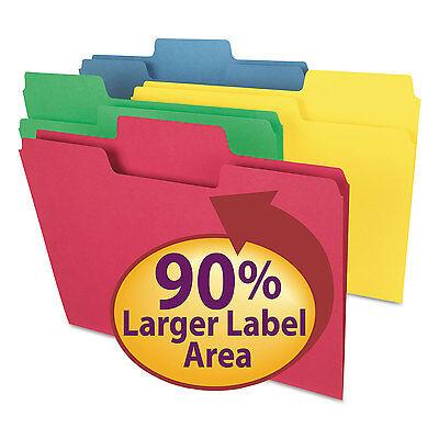 Smead Supertab Colored File Folders 13 Cut Letter Assorted 100box 11987
