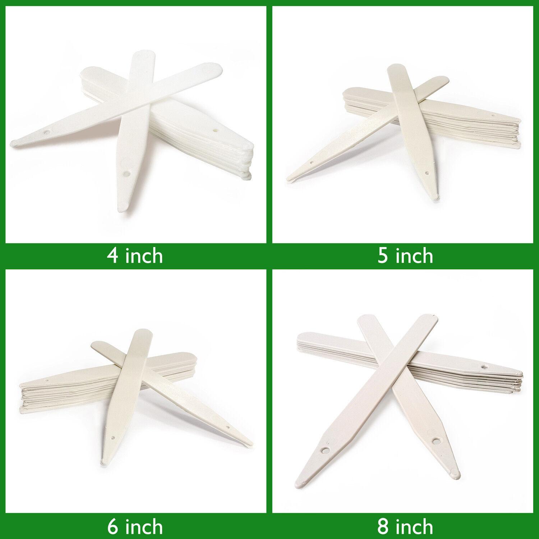 300,1000,2000,3000,4000 Elixir Gardens /® 5 White Stick In Plastic Plant Labels