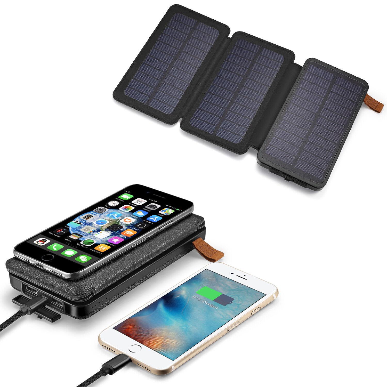 500000mAh Solar Panel Qi Wireless External Battery Charger P