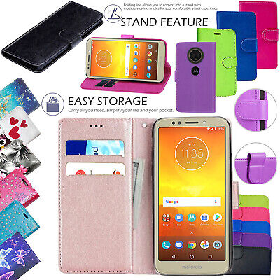 For Motorola Moto E6 E6 PLUS G7 Power G6 Play Leather Wallet Phone Case Cover