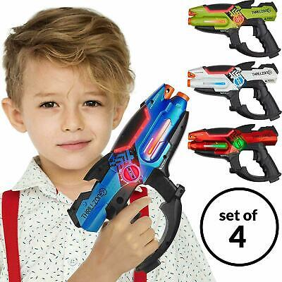 Set of 4 Infrared Laser Tag Guns Indoor & Outdoor 4 Players Team Group Activity