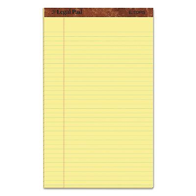 Tops Legal Rule Writing Pads 14 X 8.5 Canary Paper 50 Sheet 12 Pack