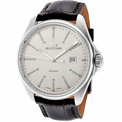 Glycine 3890.11.LBK7F Men's Combat 6 Silver-Tone Automatic Watch