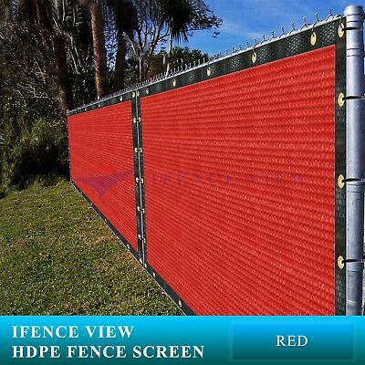 Ifenceview 4'x50' Red Fence Privacy Screen Mesh for Construction Patio Garden ()