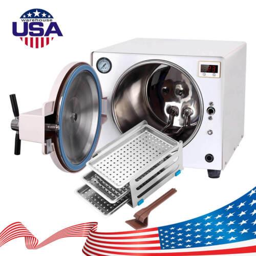 18L Dental Autoclave Steam Sterilizer Medical Sterilization Stainless Steel 110V