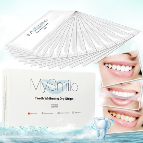 MySmile Teeth Whitening Strips Tooth Whitener Bleaching – Pack of 28 Strips Health & Beauty