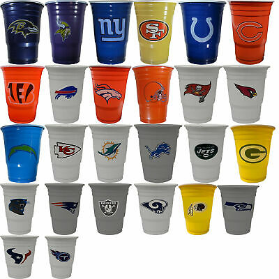 New 18 Football League Game Day Plastic Cups 18 Oz Licensed - Plastic Football Cups