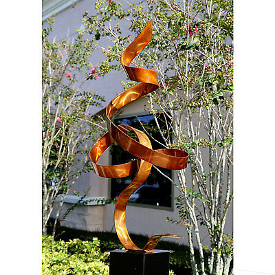 Statements2000 Modern Abstract Metal Sculpture Jon Allen Copper Perfect Moment