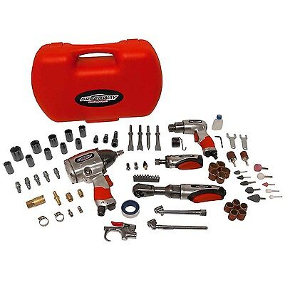 Speedway 74 Piece Air Tool Accessory Kit Impact Wrench Air Ratchet Drill 52071