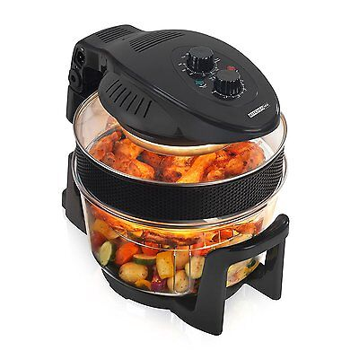 Kitchen M8 Halogen Oven KM805B Black 17 Litre, 1300W -For Healthy Eating RRP £99