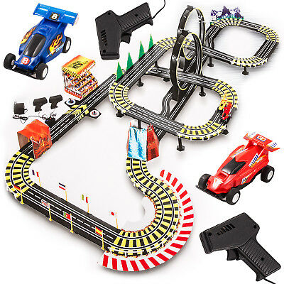 Autorennbahn Rennbahn Kinderrennbahn Looping, Kinder KP8814  NEU 2 Autos