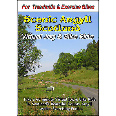 ARGYLL ,SCOTLAND JOG & BIKE RIDE CYCLING SCENERY VIDEO EXERCISE & FITNESS DVD