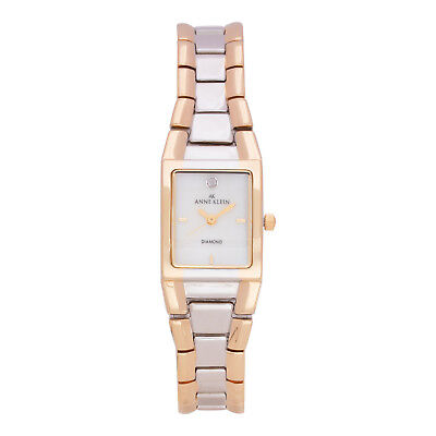 Anne Klein 10-7255MPTT Women's Quartz Gold and Silver Bracelet Authentic Watch