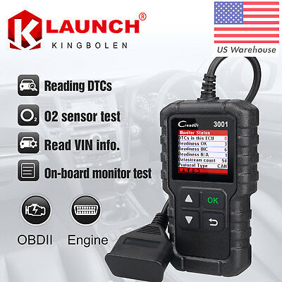 OBD2 Scanner OBDII Car Engine check MIL code Diagnostic Tool Launch Creader 3001