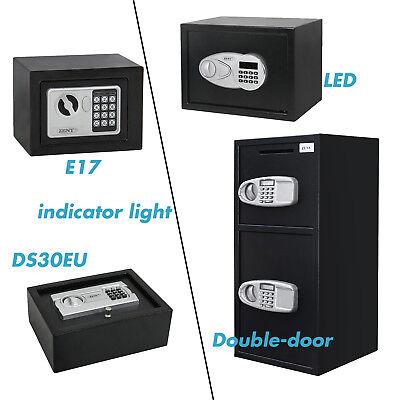 Digital Electronic Safe Box Drawer Gun Jewel Cash Vital Files Home Security Box