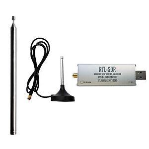 1ppm TCXO SMA Software Defined Radio Dongle With 2x Telescopic Antennas