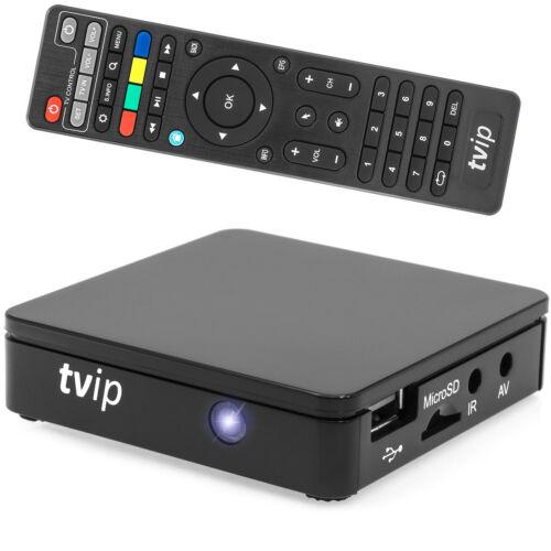 TVIP V.412 V2 IPTV SET TOP BOX Multimedia Player Internet TV USB HDMI 1080p