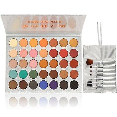 Beauty Glazed Eyeshadow Palette and Makeup Brushes, Matte Sh