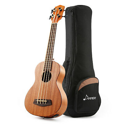 Best  DUB-1 30 inch Electric Bass Ukulele Mahogany Body with Case Fast Ship