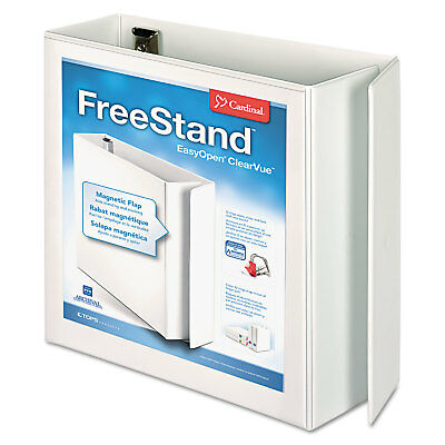 Cardinal Freestand Easy Open Locking Slant-d Ring Binder 4 Cap 11 X 8 12 White