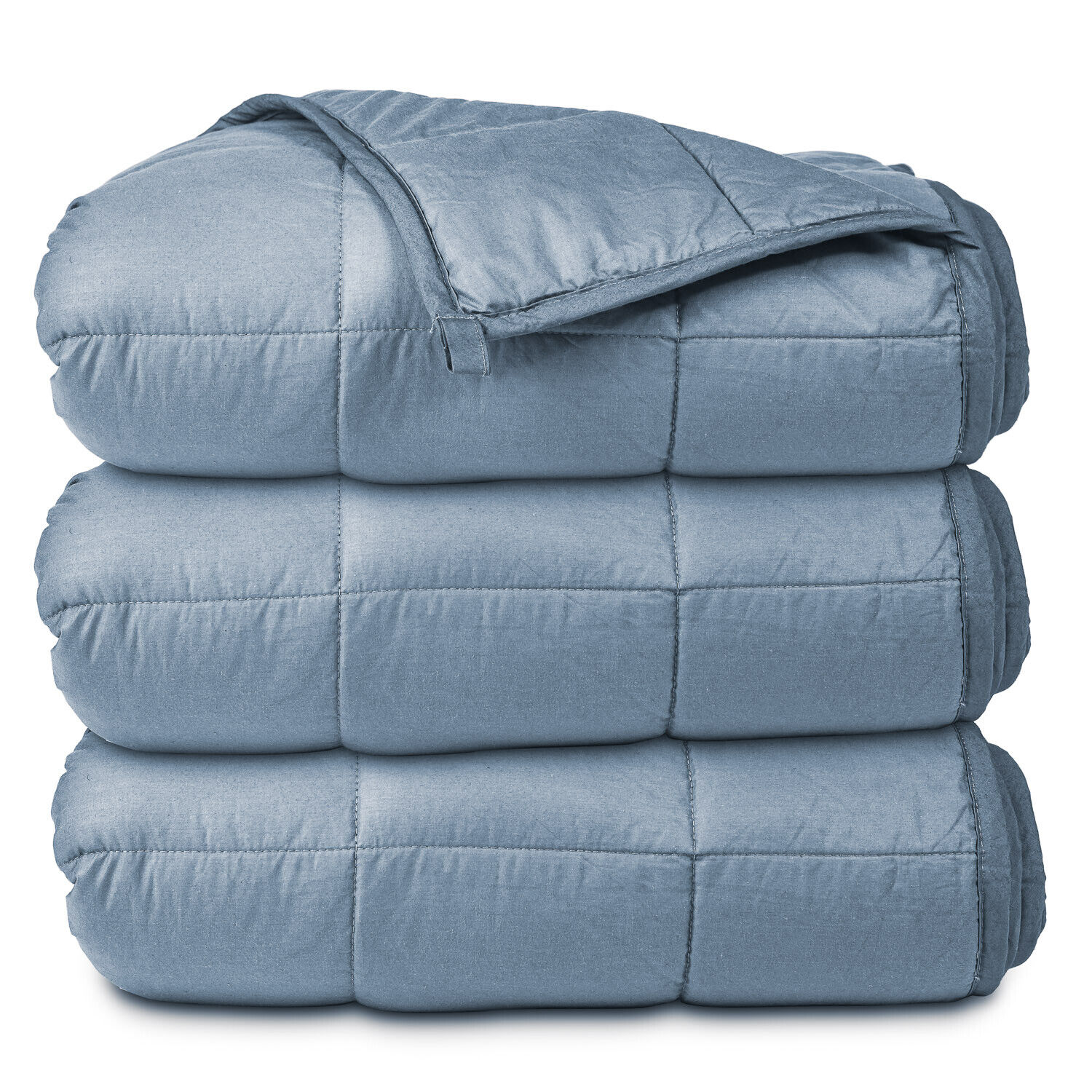 Weighted Gray Blanket - 20 LB - Twin / Queen - Buffalo Sherp
