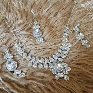 Bridal jewelry Wedding jewelry Silver jewelry Set