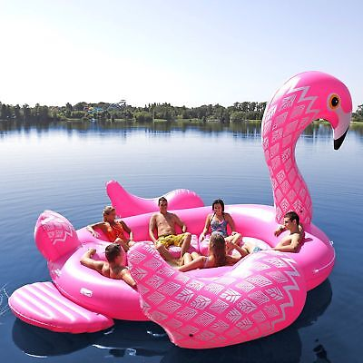 Sun Pleasure Inflatable 6 Person Flamingo Party Bird Island Float - Brand New