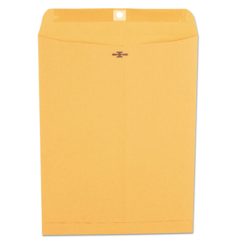 UNIVERSAL Kraft Clasp Envelope Center Seam 28lb 10 x 13 Brown Kraft 100/Box