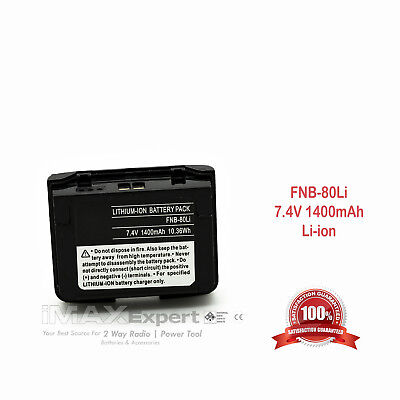 Fnb 80Li Battery For Yaesu Vertex Vx 5R Vx 6R Vx 7R Vxa 710 Hx 471S
