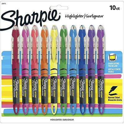 Sharpie Liquid Highlighter Assorted Colors Chisel Tip Marker Pen Home Office