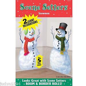 CHRISTMAS-SNOWMEN-SCENE-SETTER-FROZEN-WINTER-WONDERLAND ...