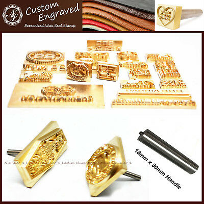 Leather Carving Designs (Custom Made Design Your Logo Leather Seal Wood Stamp Branding Iron Carving Mold )