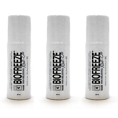 Biofreeze Pain Relieving Roll On  3 Ounce  Pack Of 3