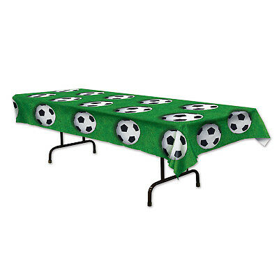 Soccer Party Games (Soccer Ball Plastic Tablecover Tablecloth Decor Sports Birthday Party Game)