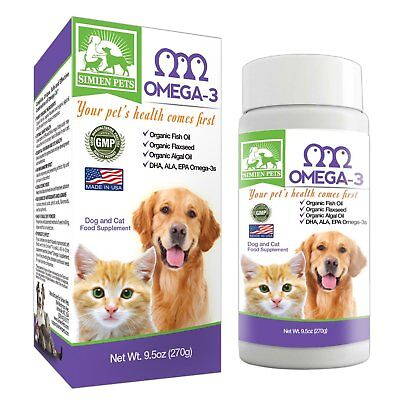 Organic Omega 3 Dogs   Cats   Fish  Algal   Flaxseed Oils   Shinier Coat   Skin