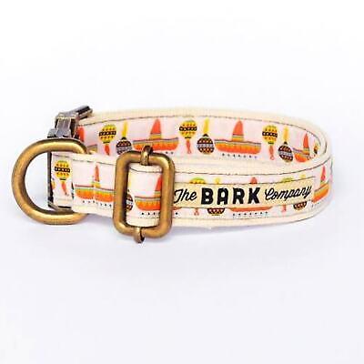 Halsband und Leine für Hund Baumwolle Geschirr Metall The Bark Modell