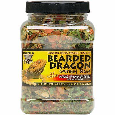 T-Rex Bearded Dragon Gourmet Food Blend net weight 4 oz